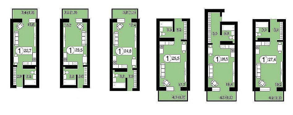 Квартиры, нежилые помещения в новостройках в Красноярске от застройщика т. 8(391) 242-42-19