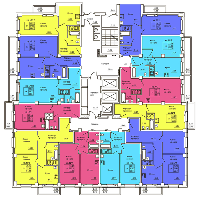 Квартиры, нежилые помещения в новостройках г.Красноярска т.8(391) 242-42-19